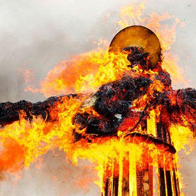 quema de figuras
